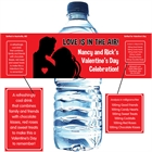 Valentine's Day Couple Theme Water Bottle Label