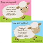 Baby Sheep Theme Baby Shower Invitation