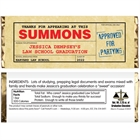 Graduation Law School Subpoena Theme Candy Bar