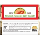 Taco Party Fiesta Candy Bar Wrappers