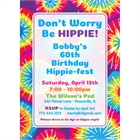 Hippie Tie Dye Invitation