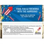 Fireworks Theme Candy Bar Wrapper