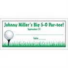 Golf Seating Card