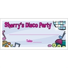 Disco Theme Seating Card