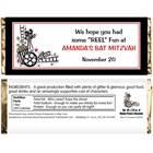 Hollywood Film Reel Theme Candy Bar Wrapper