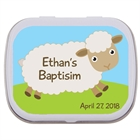 Boy Theme Baptism Mint Tin, Sheep