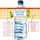 Circus Water Bottle Label