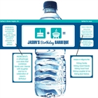 Birthday Icons Water Bottle Label