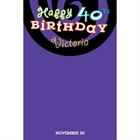 Birthday Swirls Sign In Board