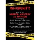 Crime Scene Theme Party Invitation