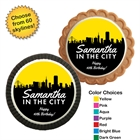 Pick Your Skyline Birthday Custom Cookie