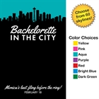 Pick Your Skyline Bachelorette Party Sign in Board