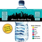 Pick Your Skyline Bachelorette Water Bottle Label