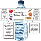 Bridal Shower Holiday Theme Water Bottle Label