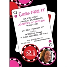 Casino Poker Chips For Her Photo Invitation