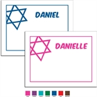 Simple Star of David Thank You Note