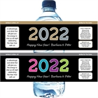 2018 New Year's Celebration Water Bottle Label