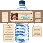 Kids Wanted Poster Water Bottle Labels