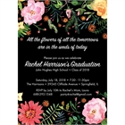 Watercolor Flowers Graduation Invitation