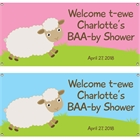 Baby Sheep Theme Baby Shower Banner