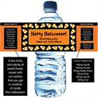 Halloween Sweet Candy Corn Water Bottle Label