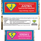 Superhero Theme Party Candy Bar Wrappers