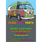 Hippie Bus Theme Invitation