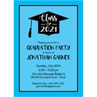 Graduation Cap Blue Invitation