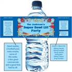 Football Plays Theme Water Bottle Label