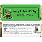 St. Patrick's Day Leprechauns Theme Candy Bar Wrapper