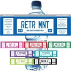 Retirement License Plate Water Bottle Label