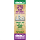 Mardi Gras Super Bowl Ticket Invitation