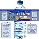 Halloween Graveyard Water Bottle Label