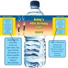 Luau Tiki Water Bottle Label
