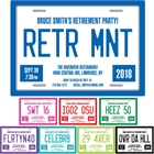 Retirement License Plate Invitation