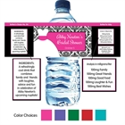 Wedding Dress Theme Water Bottle Label