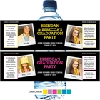 Graduation Polaroid Photo Theme Water Bottle Label
