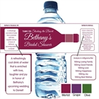 Wine Theme Shower Water Bottle Label
