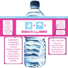 Baby Shower Icons Water Bottle Label