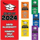 Graduation Color Choice Theme Banner, Vertical