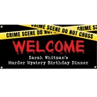 Crime Scene Theme Party Banner
