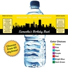 Pick Your Skyline Birthday Water Bottle Label