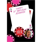 Casino Poker Chips For Her Photo Sign in Board
