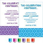 Mitzvah Stars Theme Reception Cards
