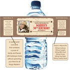 Western Wanted Poster Water Bottle Labels