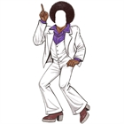 Disco Male Cutout, Purple