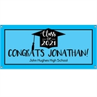 Graduation Cap Blue Theme Banner