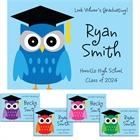 Graduation Owl Theme Announcements
