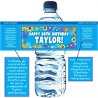Hippie Retro Water Bottle Label