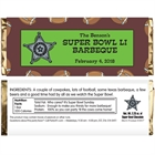 Football Texas Style Theme Candy Bar Wrapper